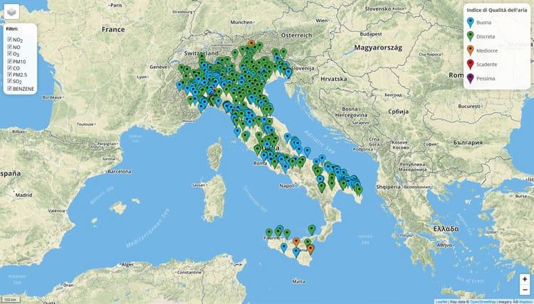 moniqua app sull'inquinamento dell'aria